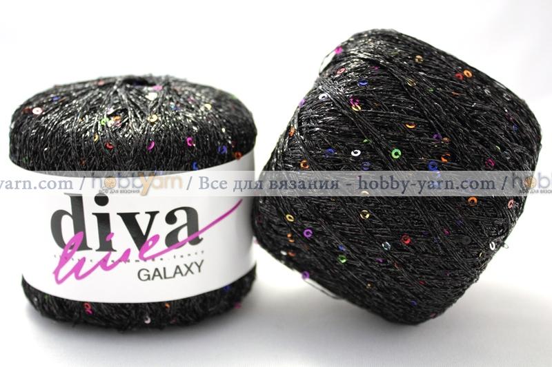Galaxy тонкая пряжа с паетками выгодный метраж
