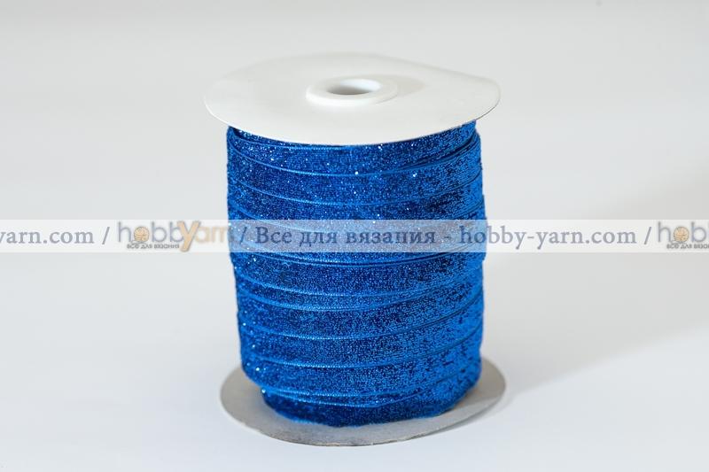 Тесьма велюровая с люрексом 12 мм