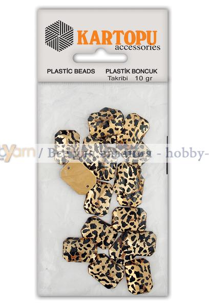 Бусины пришивные - леопард